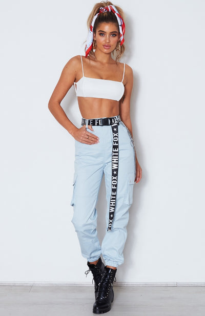 Coolio Crop Top White