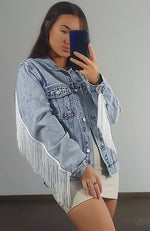 Summer Nights Denim Jacket Washed Blue Denim