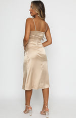 Ever After Midi Dress Champagne