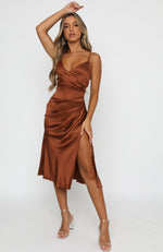 Ever After Midi Dress Rust