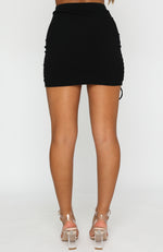 On The Record Mini Skirt Black