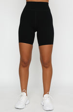 High Impact Bike Shorts Black/White
