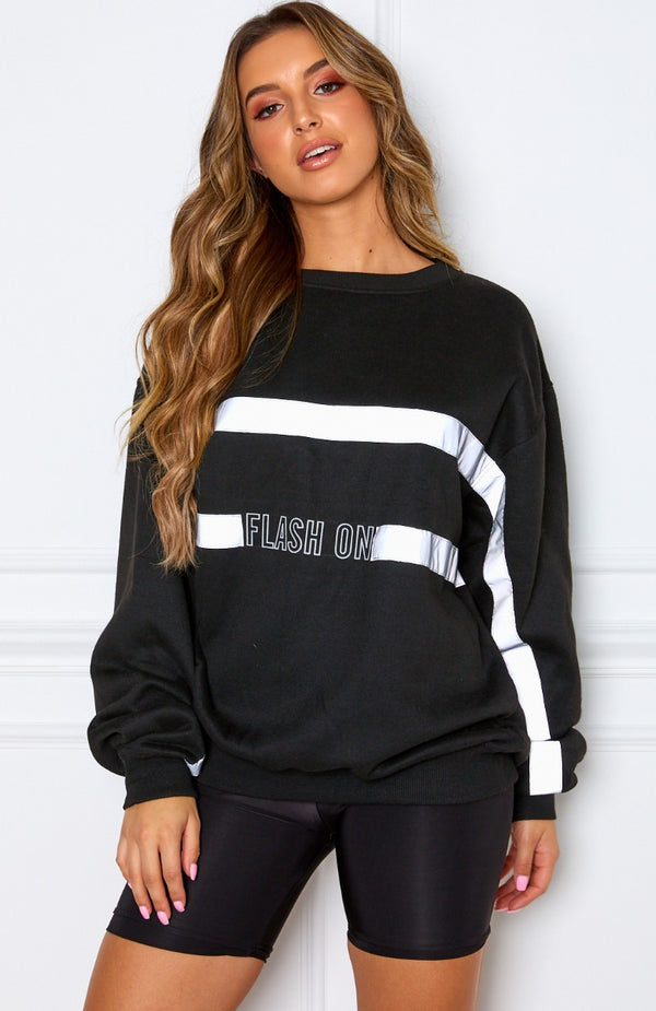 Flash On Sweater Black