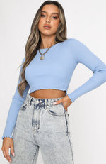 Crossfire Cropped Knit Blue