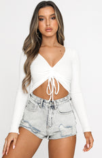 Perri Crop White