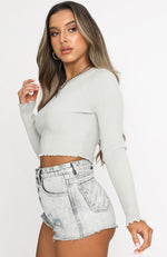 Crossfire Cropped Knit Light Sage