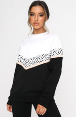 All I Do Is Brunch Sweater Black/White