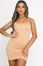 Summer Edit Mini Dress Tan