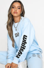 On The Road Oversized Sweater Baby Blue