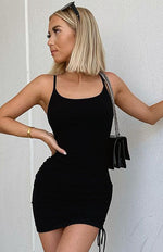 Stepping Out Mini Dress Black