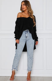 Soft Black Knit