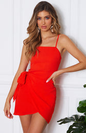 Any Takers Dress Red