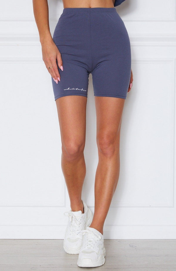 Signature Bike Shorts Charcoal
