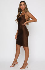 An Obsession Midi Dress Chocolate
