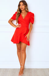 Can't Resist Mini Dress Cherry Red