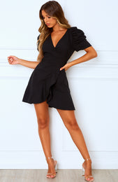 Can't Resist Mini Dress Black