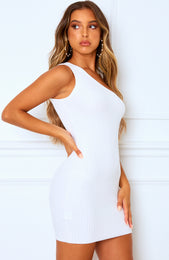 Break Up Mini Dress White