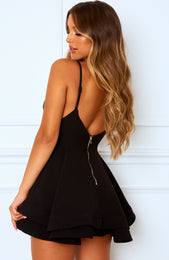 Flirtini Mini Dress Black