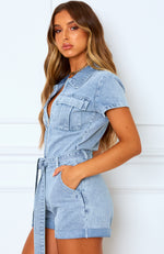 Summer Of Love Playsuit Acid Blue