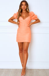 All Time Mini Dress Peach