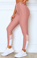Peyton Panel Leggings Dusty Rose