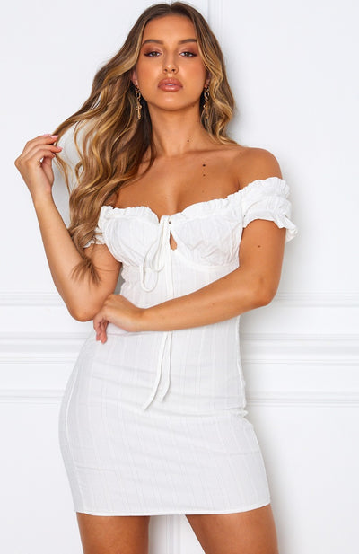 Force Of Nature Mini Dress White