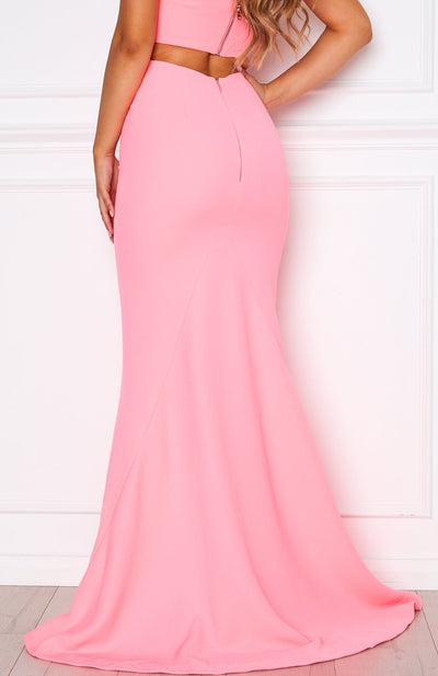Steal The Night Maxi Skirt Neon Pink
