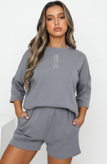 Open To It Oversized Tee Vintage Grey