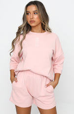 Open To It Oversized Tee Pink