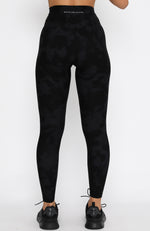 On The Move Leggings Charcoal Tie Dye
