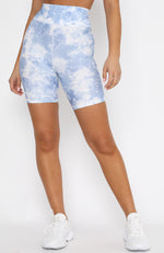 Fall In Line Bike Shorts Blue Tie Dye