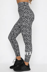 Down For It Leggings Black Leopard