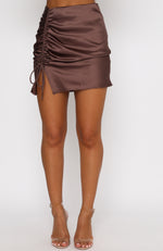 Hooked On You Mini Skirt Mocha