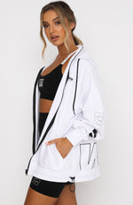 On Track Windbreaker White