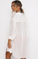 Over The Top Oversized Shirt White