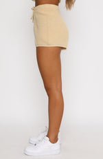Lazy Daze Knit Shorts Beige