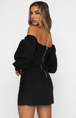 Afternoon Light Mini Dress Black