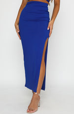 Another Place Maxi Skirt Royal Blue