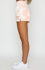 Just Like That Shorts Peach Tie Dye