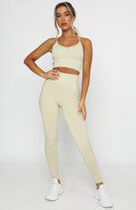 Seamless High Waisted Leggings Cuban Sand