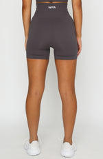 Seamless High Waisted Shorts Shadow