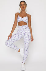 Go With The Flow Leggings Purple Floral