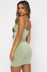 Don't Rush It Mini Dress Green