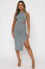 Last Minute Midi Dress Steel