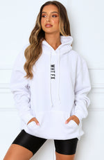 All In Oversized Hoodie White