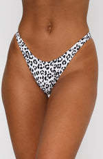 Belmont Bottoms White Leopard