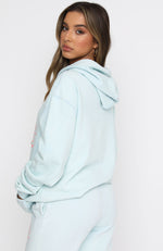 All You Need Oversized Hoodie Washed Blue