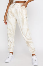 It's Complicated Sweatpants Nude Tie Dye