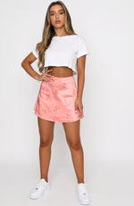 Ellery Mini Skirt Peach Print