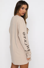If You Stay Long Sleeve Tee Sand